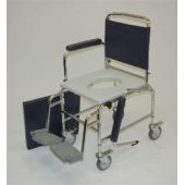 "Deluxe Mobile Commode 18"" - Adjustable Height"