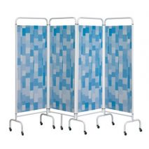 Folding Screen - Blue Patchwork sample