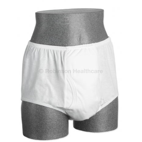 Readi Mens Brief with Fly & Built-In Pad