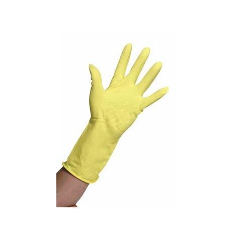 Household Rubber Gloves - Yellow - 12 pairs