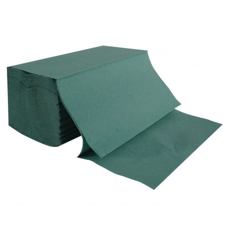 Hand Towels, 1-ply, Green Interfold