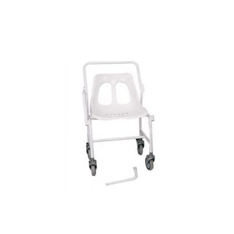 Mobile shower chair with Detachable Arms, Fixed Height