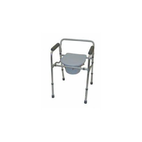 Aluminium Folding Commode Chair & Toilet Surround