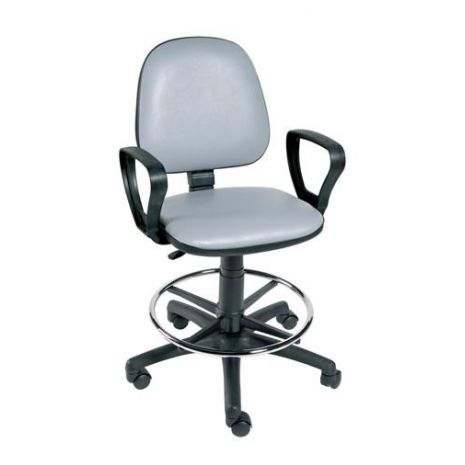 Gas-Lift Chair with Arms and Foot Ring