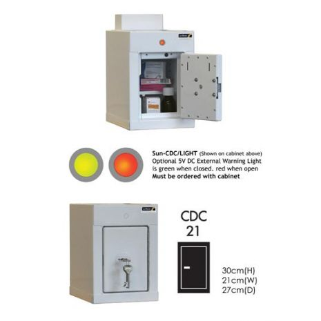 Controlled Drug Cabinet with 1 shelf/1 tray/1 door - CDC21