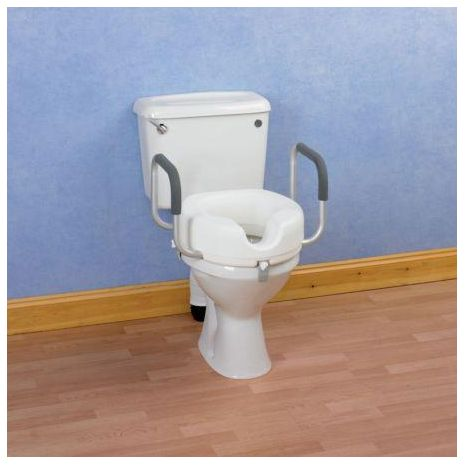 Raised Toilet Seat with Arms - OLD STOCK CLEARANCE!