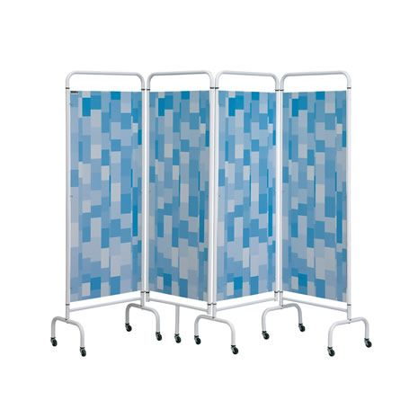 Folding Screen - Blue Patchwork sample