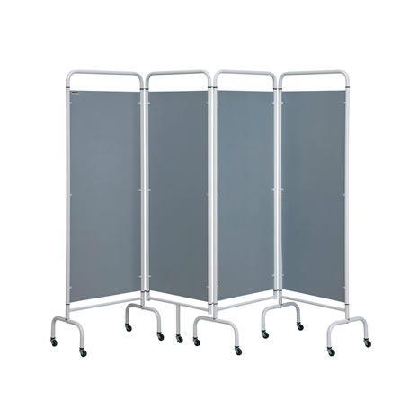 4 Panel Mobile Folding Hospital Ward Screen - Various colours