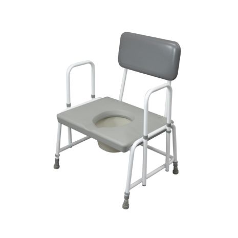 Bariatric Commode, Extra Wide with Drop Arm