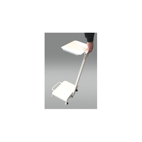 Standard sack holder, open type with wheels, all white