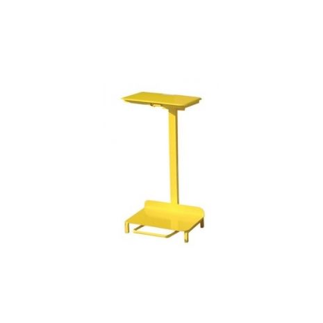 Standard sack holder, open type with wheels, all yellow