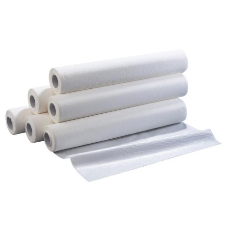 Progena Plastic Backed White Couch Roll