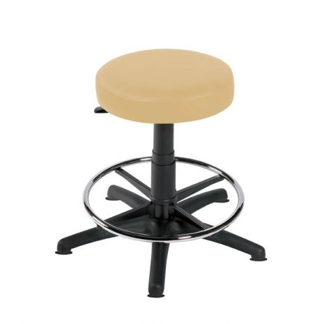 Gas-lift Stool with Foot Ring and 5 Glides