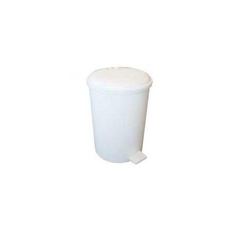 3 Litre Plastic Pedal Bin - White