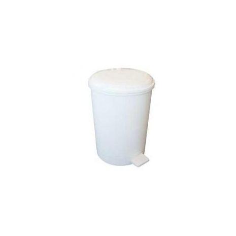 12 Litre Plastic Pedal Bin - White