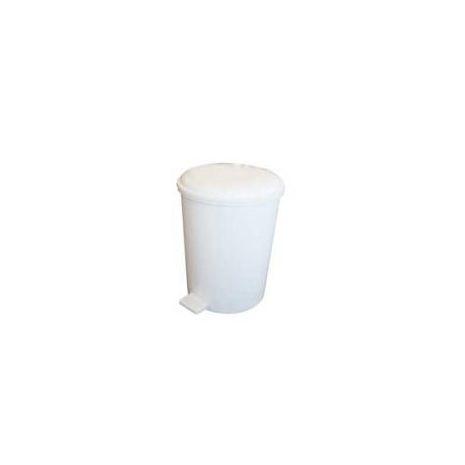 6 Litre Plastic Pedal Bin - White