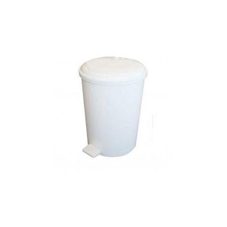 20 Litre Plastic Pedal Bin - White