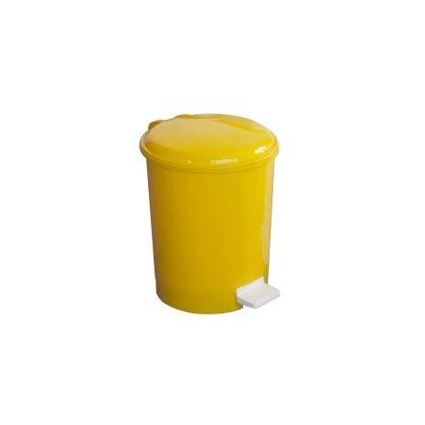 12 Litre Plastic Pedal Bin - Yellow