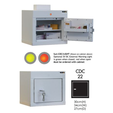 Controlled Drug Cabinet with 1 shelf/1 tray/1 door - CDC22