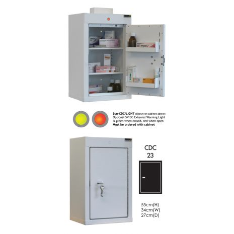Controlled Drug Cabinet with 2 shelves/2 trays/1 door - CDC23
