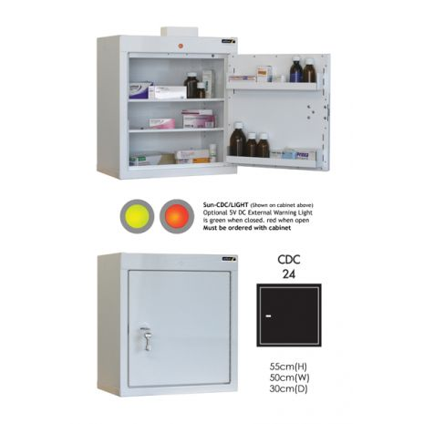Controlled Drug Cabinet with 2 shelves/2 trays/1 door - CDC24