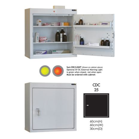 Controlled Drug Cabinet with 2 shelves/2 trays/1 door - CDC25