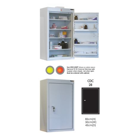 Controlled Drug Cabinet with 4 shelves/4 trays/1 door - CDC28