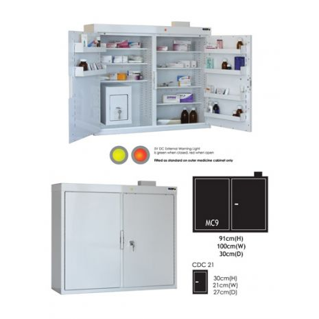 Medicine Outer Cabinet (MC9) with CDC21 Controlled Drug Inner