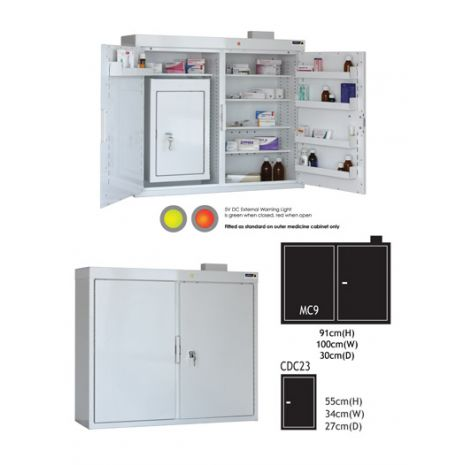 Medicine Outer Cabinet (MC9) with CDC23 Controlled Drug Inner