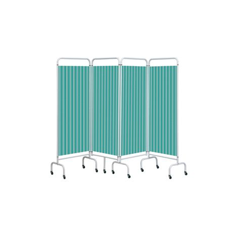 4 Panel Mobile Folding Hospital Ward Screen - Various colours