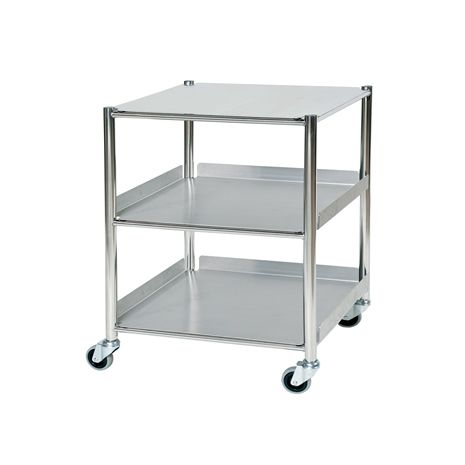 Surgical Trolley with 2 Glass Effect Safety Trays - Small (ST4)
