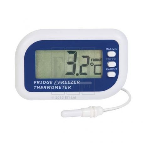 Fridge or Freezer Thermometer with internal sensor & Max/Min function (Coin Battery)